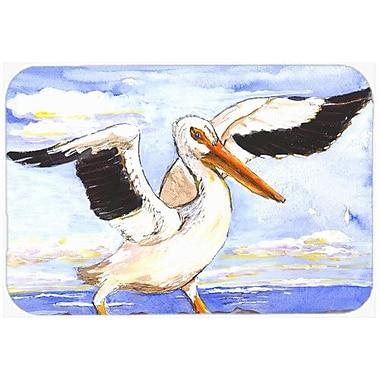 Caroline's Treasures Bird Pelican Kitchen/Bath Mat; 24'' H x 36'' W x 0.25'' D