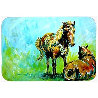 Caroline's Treasures Horse Grazin Kitchen/Bath Mat; 20'' H x 30'' W x 0.25'' D