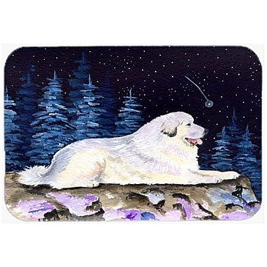 Caroline's Treasures Starry Night Great Pyrenees Kitchen/Bath Mat; 20'' H x 30'' W x 0.25'' D