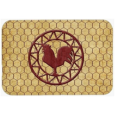 Caroline's Treasures Rooster Chicken Coop Kitchen/Bath Mat; 24'' H x 36'' W x 0.25'' D