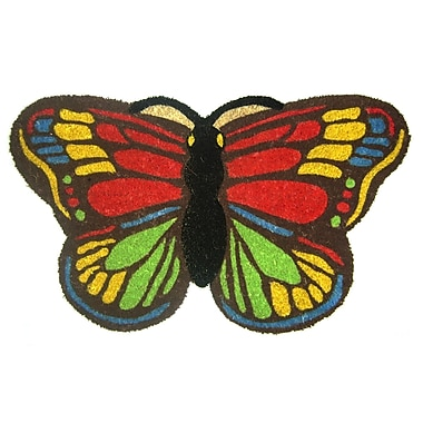 Geo Crafts Colorful Butterfly Doormat