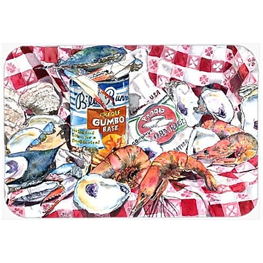 Caroline's Treasures Runner Gumbo Receipe Kitchen/Bath Mat; 24'' H x 36'' W x 0.25'' D