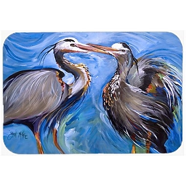 Caroline's Treasures Heron Love Kitchen/Bath Mat; 20'' H x 30'' W x 0.25'' D