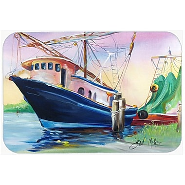 Caroline's Treasures Shrimper Southern Star Kitchen/Bath Mat; 20'' H x 30'' W x 0.25'' D