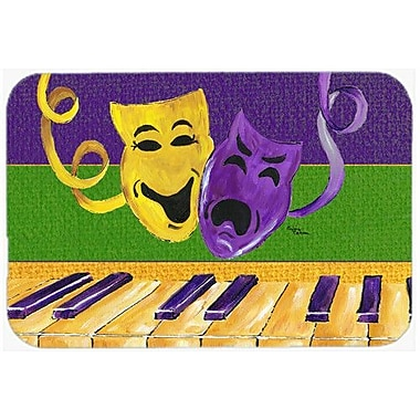 Caroline's Treasures Mardi Gras Kitchen/Bath Mat; 24'' H x 36'' W x 0.25'' D