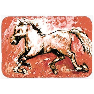 Caroline's Treasures Shadow The Horse InKitchen/Bath Mat; 20'' H x 30'' W x 0.25'' D