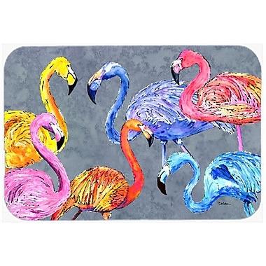 Caroline's Treasures Flamingo Six Senses Kitchen/Bath Mat; 24'' H x 36'' W x 0.25'' D