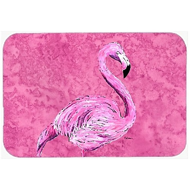 Caroline's Treasures Flamingo on Pink Kitchen/Bath Mat; 20'' H x 30'' W x 0.25'' D