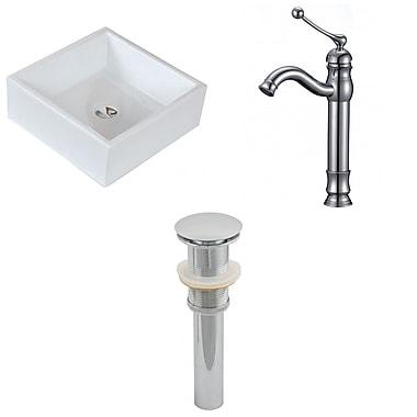 American Imaginations Square Vessel Bathroom Sink