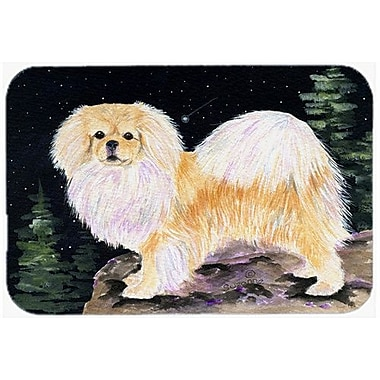 Caroline's Treasures Starry Night Tibetan Spaniel Kitchen/Bath Mat