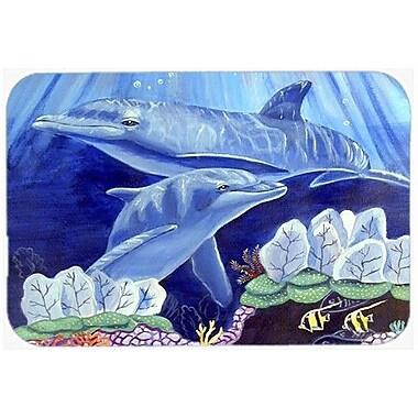 Caroline's Treasures Dolphin Unde The Sea Kitchen/Bath Mat; 24'' H x 36'' W x 0.25'' D