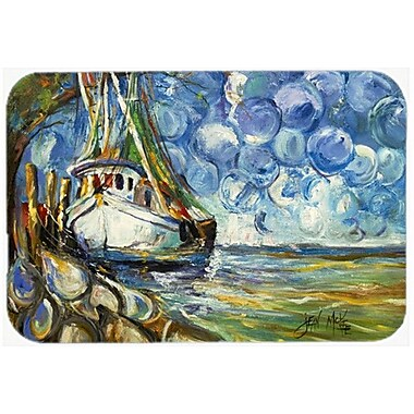 Caroline's Treasures Shrimp Boat 101 Kitchen/Bath Mat; 20'' H x 30'' W x 0.25'' D