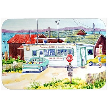 Caroline's Treasures Seafood Shack For Fresh Shrimp Kitchen/Bath Mat; 24'' H x 36'' W x 0.25'' D