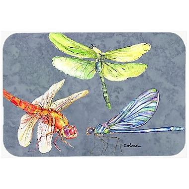 Caroline's Treasures Dragonfly Times Three Kitchen/Bath Mat; 20'' H x 30'' W x 0.25'' D