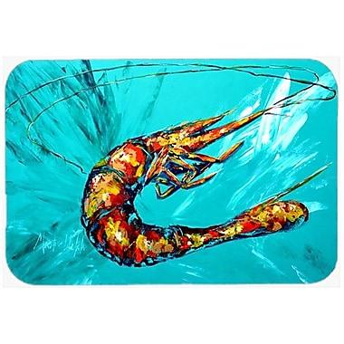 Caroline's Treasures Shrimp Teal Shrimp Kitchen/Bath Mat; 20'' H x 30'' W x 0.25'' D