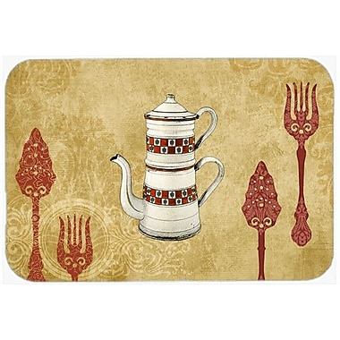 Caroline's Treasures Teapot Welcome Kitchen/Bath Mat; 20'' H x 30'' W x 0.25'' D