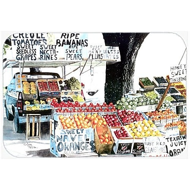 Caroline's Treasures Fruit Stand Kitchen/Bath Mat; 24'' H x 36'' W x 0.25'' D