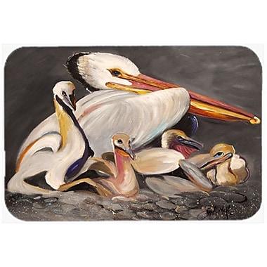Caroline's Treasures Pelicans Kitchen/Bath Mat; 24'' H x 36'' W x 0.25'' D