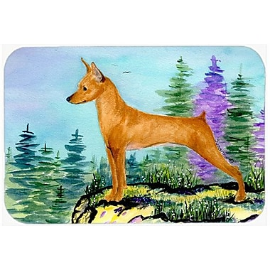 Caroline's Treasures Min Pin Kitchen/Bath Mat; 20'' H x 30'' W x 0.25'' D