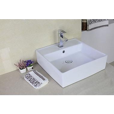American Imaginations Above Counter Rectangular Vessel Bathroom Sink w/ Overflow