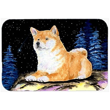 Caroline's Treasures Starry Night Shiba Inu Kitchen/Bath Mat; 20'' H x 30'' W x 0.25'' D
