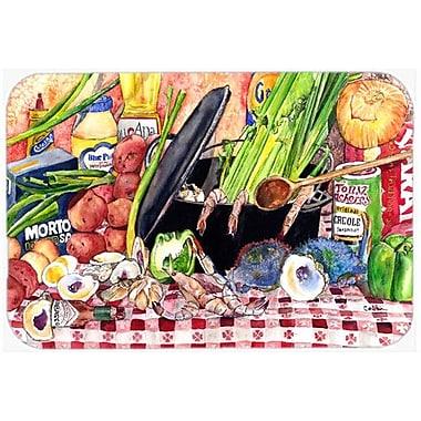 Caroline's Treasures Gumbo and Potato Salad Kitchen/Bath Mat; 24'' H x 36'' W x 0.25'' D