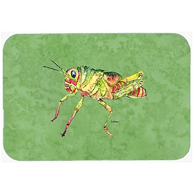 Caroline's Treasures Grasshopper on Avacado Kitchen/Bath Mat; 24'' H x 36'' W x 0.25'' D