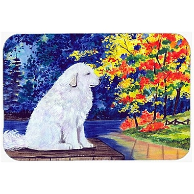 Caroline's Treasures Great Pyrenees Kitchen/Bath Mat; 24'' H x 36'' W x 0.25'' D