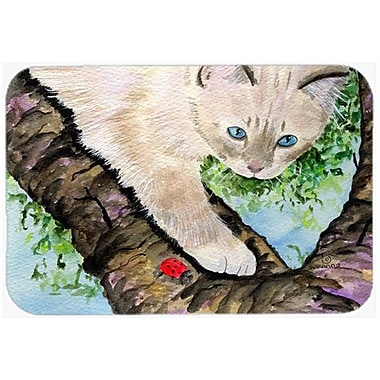 Caroline's Treasures Cat Birman Kitchen/Bath Mat; 24'' H x 36'' W x 0.25'' D