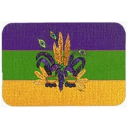 Caroline's Treasures Mardi Gras Mask Kitchen/Bath Mat; 24'' H x 36'' W x 0.25'' D