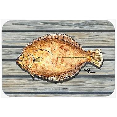 Caroline's Treasures Fish Flounder Kitchen/Bath Mat; 24'' H x 36'' W x 0.25'' D