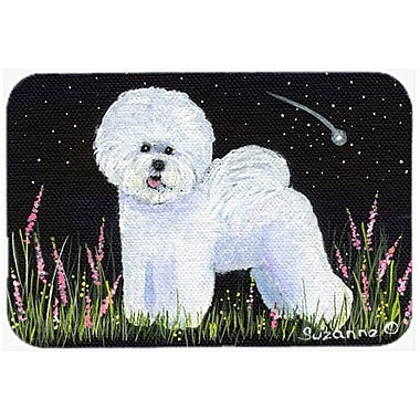Caroline's Treasures Bichon Frise Kitchen/Bath Mat; 24'' H x 36'' W x 0.25'' D