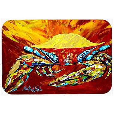 Caroline's Treasures Crab Buster Kitchen/Bath Mat; 24'' H x 36'' W x 0.25'' D