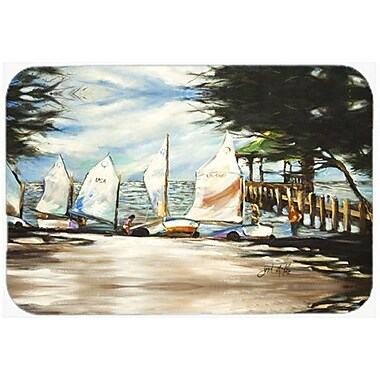 Caroline's Treasures Sailing Lessons Sailboats Kitchen/Bath Mat; 20'' H x 30'' W x 0.25'' D