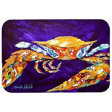 Caroline's Treasures The Right Stuff Crab In Purple Kitchen/Bath Mat; 24'' H x 36'' W x 0.25'' D