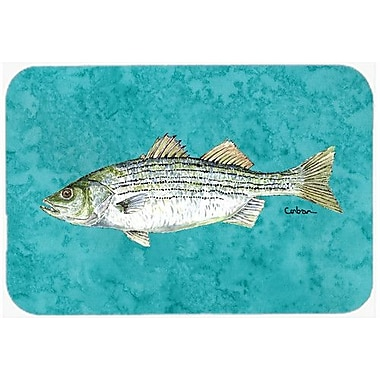 Caroline's Treasures Fish Striped Bass Kitchen/Bath Mat; 20'' H x 30'' W x 0.25'' D