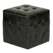 Cortesi Home Braque Leather Cube Ottoman