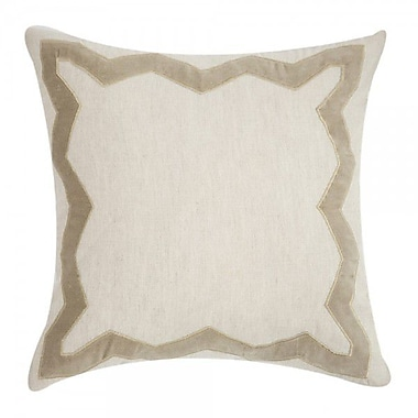 Filling Spaces Applique Linen Throw Pillow