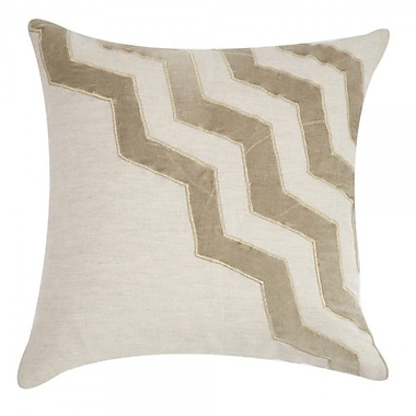 Filling Spaces Applique Linen Throw Pillow