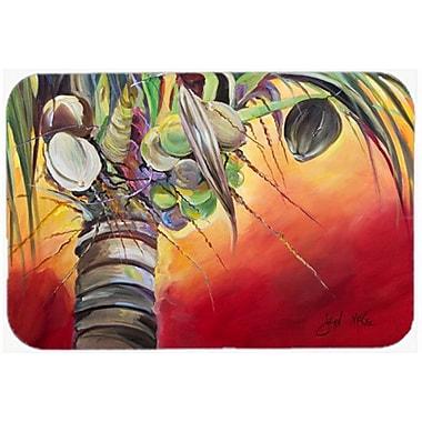 Caroline's Treasures Sunset on The Coconut Tree Kitchen/Bath Mat; 24'' H x 36'' W x 0.25'' D