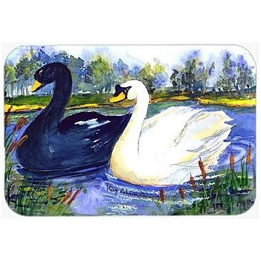 Caroline's Treasures Bird Swan Kitchen/Bath Mat; 24'' H x 36'' W x 0.25'' D