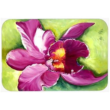 Caroline's Treasures Orchid Kitchen/Bath Mat; 24'' H x 36'' W x 0.25'' D