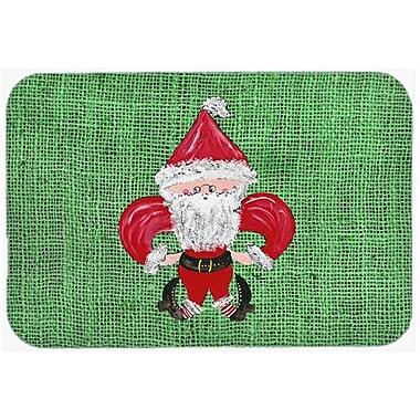 Caroline's Treasures Christmas Santa Fleur De Lis Kitchen/Bath Mat; 24'' H x 36'' W x 0.25'' D