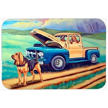 Caroline's Treasures Bloodhound Kitchen/Bath Mat; 24'' H x 36'' W x 0.25'' D