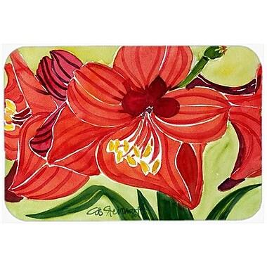 Caroline's Treasures Flower Amaryllis Kitchen/Bath Mat; 24'' H x 36'' W x 0.25'' D