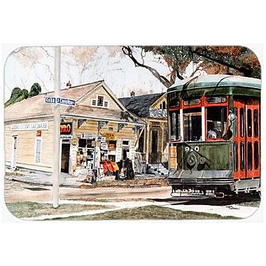 Caroline's Treasures New Orleans Streetcar Kitchen/Bath Mat; 20'' H x 30'' W x 0.25'' D