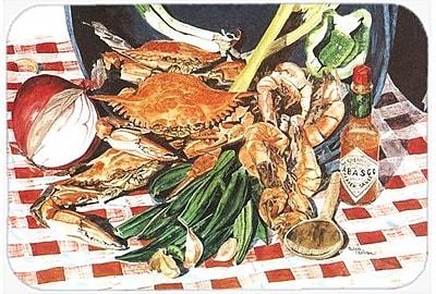 Caroline's Treasures Crab Boil Kitchen/Bath Mat; 20'' H x 30'' W x 0.25'' D