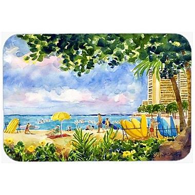 Caroline's Treasures Beach Resort View from The Condo Kitchen/Bath Mat; 24'' H x 36'' W x 0.25'' D