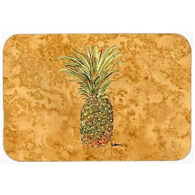Caroline's Treasures Pineapple Kitchen/Bath Mat; 24'' H x 36'' W x 0.25'' D