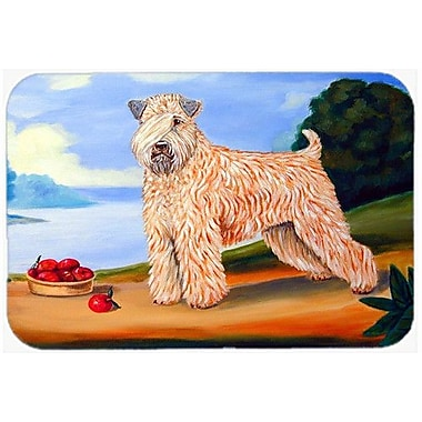 Caroline's Treasures Wheaten Terrier Soft Coated Kitchen/Bath Mat; 20'' H x 30'' W x 0.25'' D